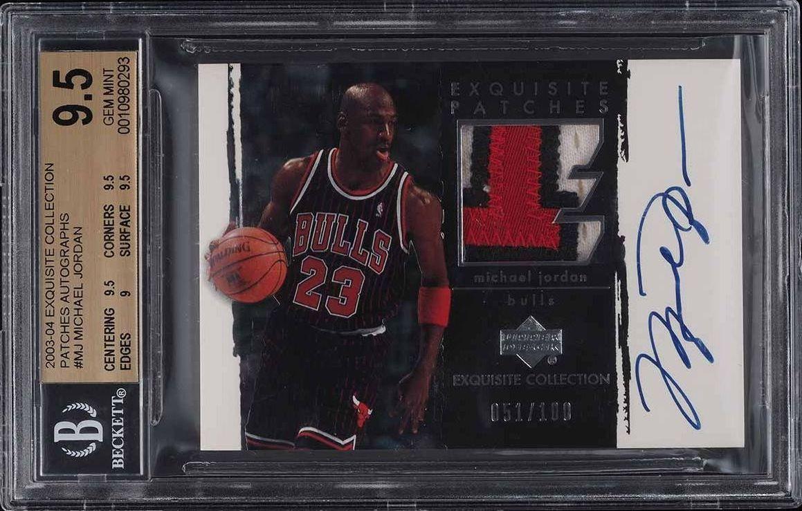 2003 Exquisite Collection Michael Jordan AUTO PATCH /100 #MJ BGS 9.5 GEM - Image 1