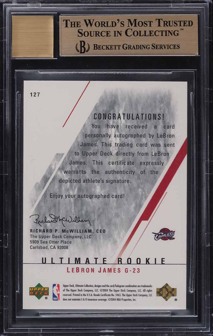2003 Ultimate Collection LeBron James ROOKIE RC AUTO /250 BGS 10 PRISTINE - Image 2