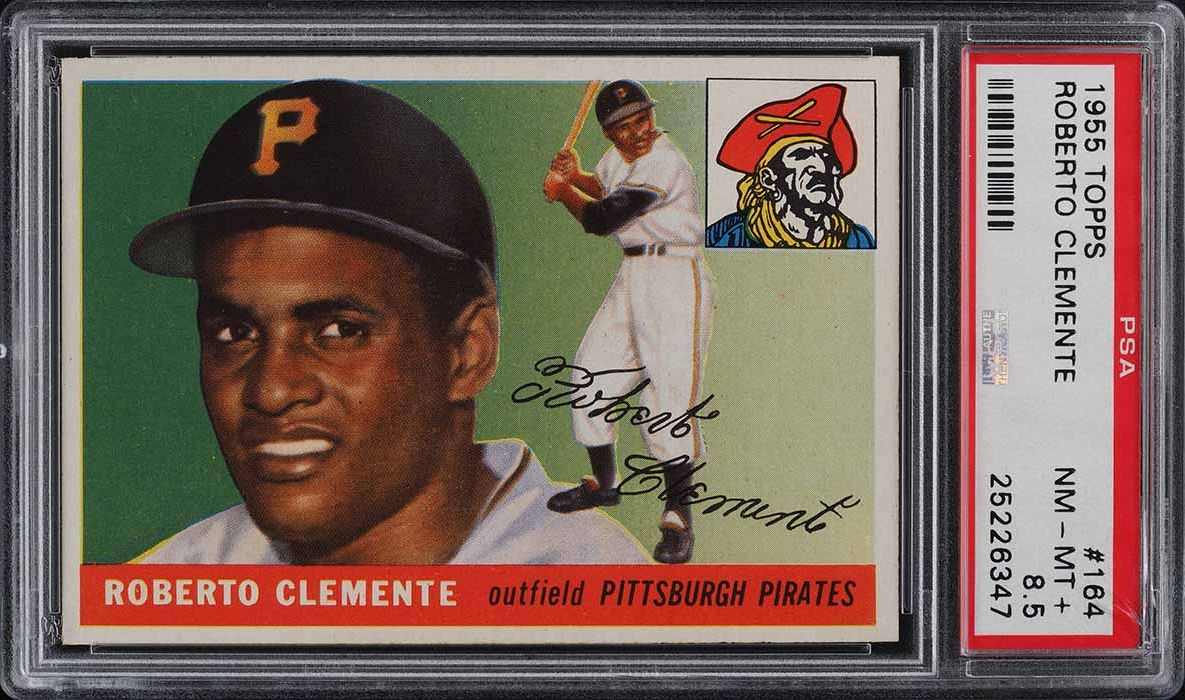 1955 Topps Roberto Clemente ROOKIE RC #164 PSA 8.5 NM-MT+ - Image 1