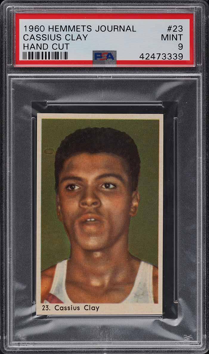 1960 Hemmets Journal Cassius Clay Muhammad Ali ROOKIE RC #23 PSA 9 MINT - Image 1