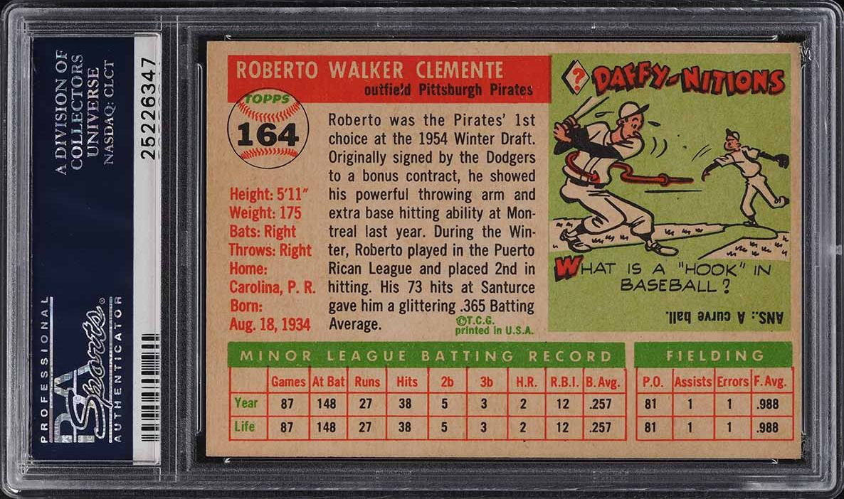 1955 Topps Roberto Clemente ROOKIE RC #164 PSA 8.5 NM-MT+ - Image 2