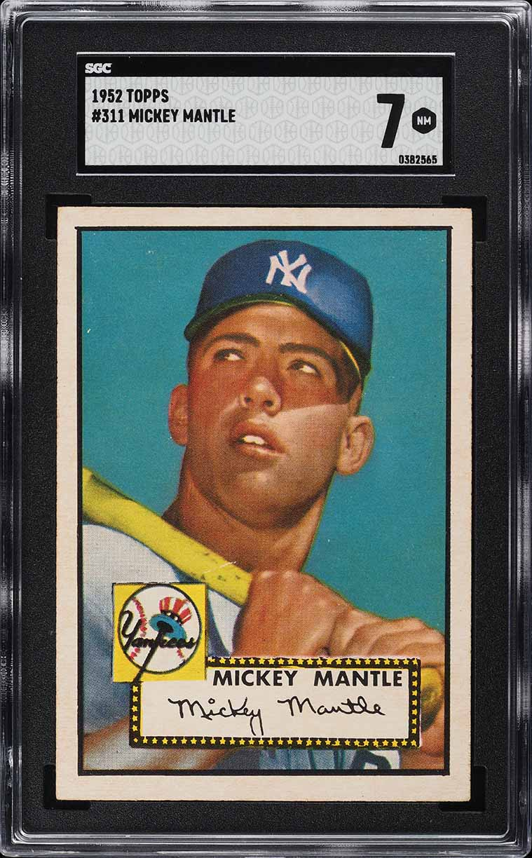 1952 Topps Mickey Mantle #311 SGC 7 NM - Image 1