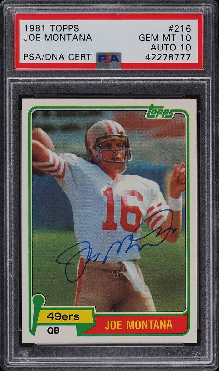 1981 Topps Football Joe Montana ROOKIE RC PSA 10 GEM MINT - Image 1