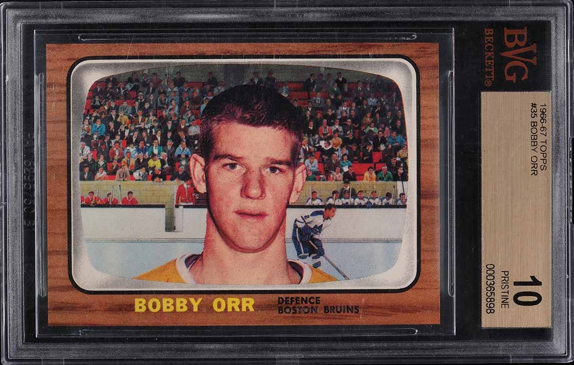 1966 Topps Hockey Bobby Orr ROOKIE RC #35 BVG 10 PRISTINE - Image 1