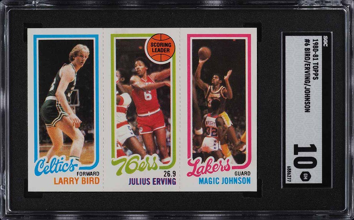 1980 Topps Basketball Larry Bird & Magic Johnson ROOKIE RC SGC 10 GEM MT - Image 1