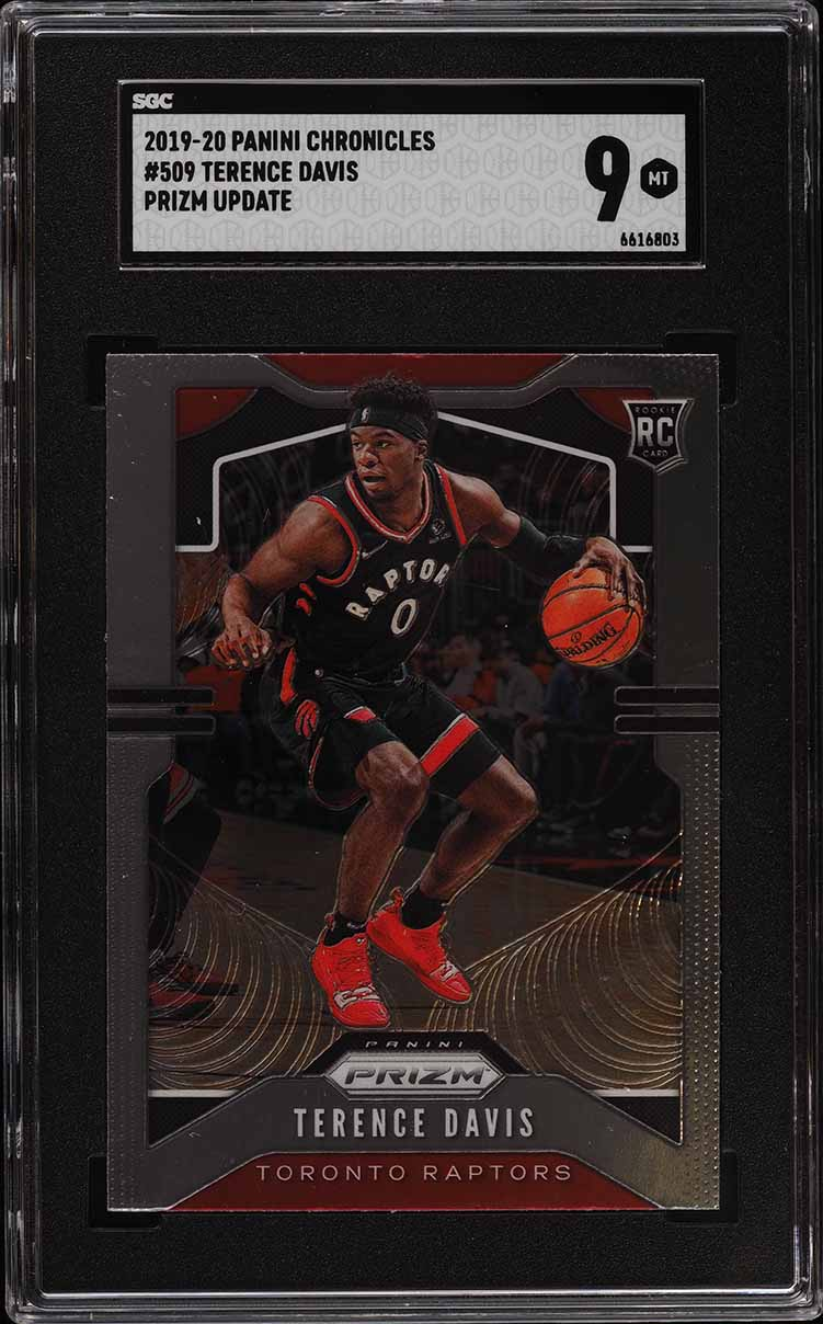 2019 Panini Chronicles Prizm Update Terence Davis ROOKIE RC #509 SGC 9 MINT - Image 1