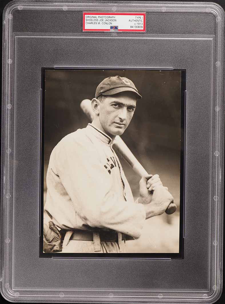 1913 Original Charles Conlon Photograph Shoeless Joe Jackson, TYPE I PSA/DNA - Image 1