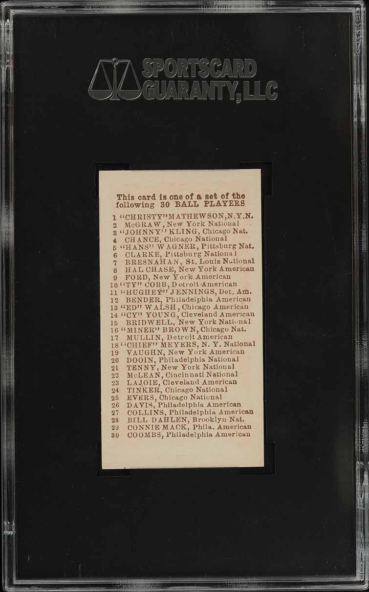 1910 E98 Set of 30 Ty Cobb RED BACKGROUND, BLACK SWAMP SGC 10 GEM MINT (PWCC-S) - Image 2