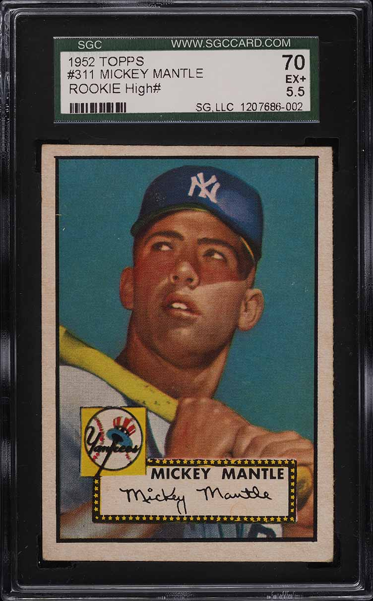 1952 Topps Mickey Mantle #311 SGC 5.5 EX+ - Image 1
