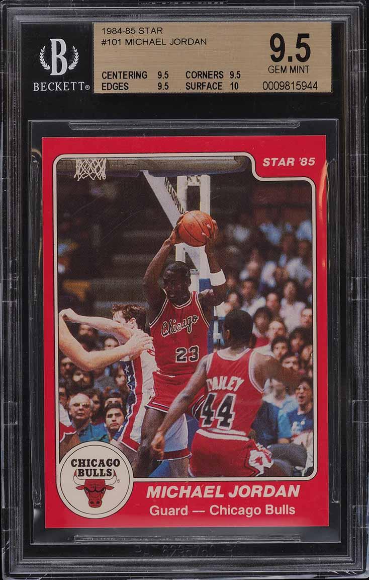 1984-85 Star Basketball Michael Jordan ROOKIE RC #101 BGS 9.5 GEM MINT - Image 1
