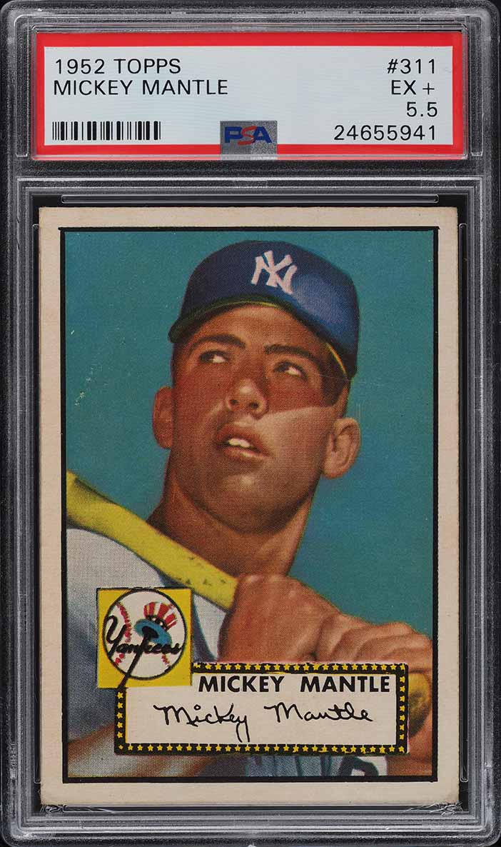 1952 Topps Mickey Mantle #311 PSA 5.5 EX+ (PWCC-A) - Image 1