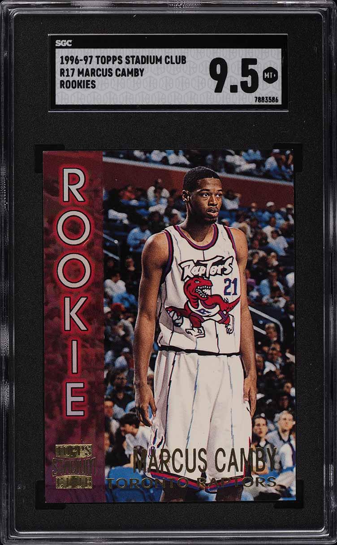 1996 Stadium Club Rookies 2 Marcus Camby ROOKIE RC #R17 SGC 9.5 MINT+ - Image 1