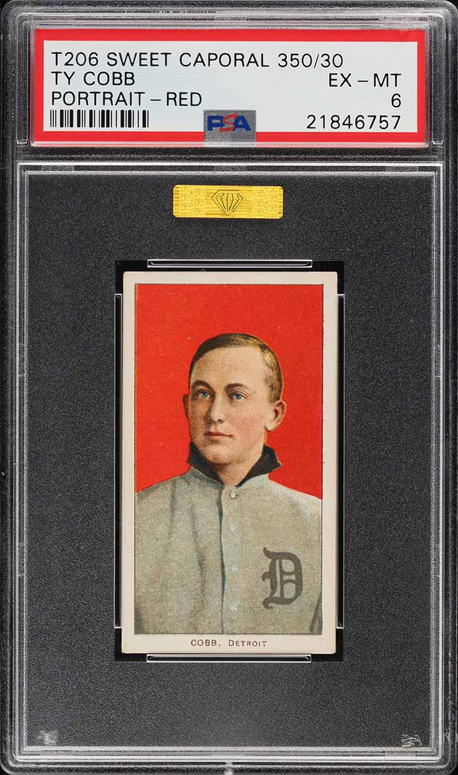 1909 T206 Ty Cobb PORTRAIT-RED PSA 6 EXMT - Image 1