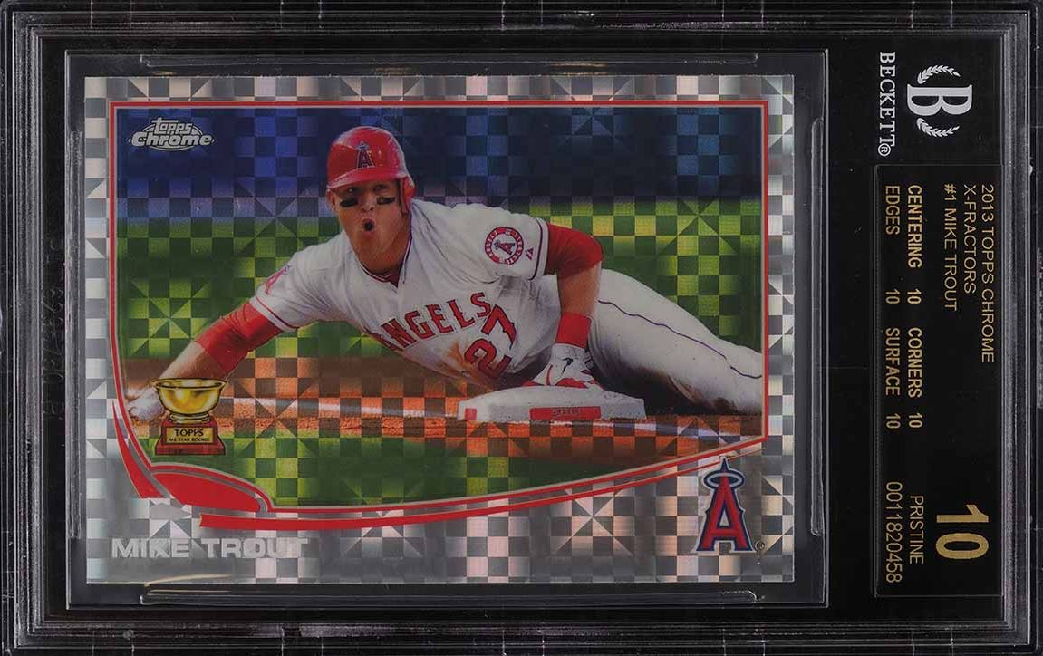 2013 Topps Chrome Xfractor Mike Trout #1 BGS 10 PRISTINE, BLACK LABEL - Image 1