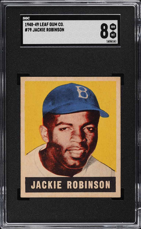 1948 Leaf Jackie Robinson ROOKIE RC #79 SGC 8 NM-MT - Image 1