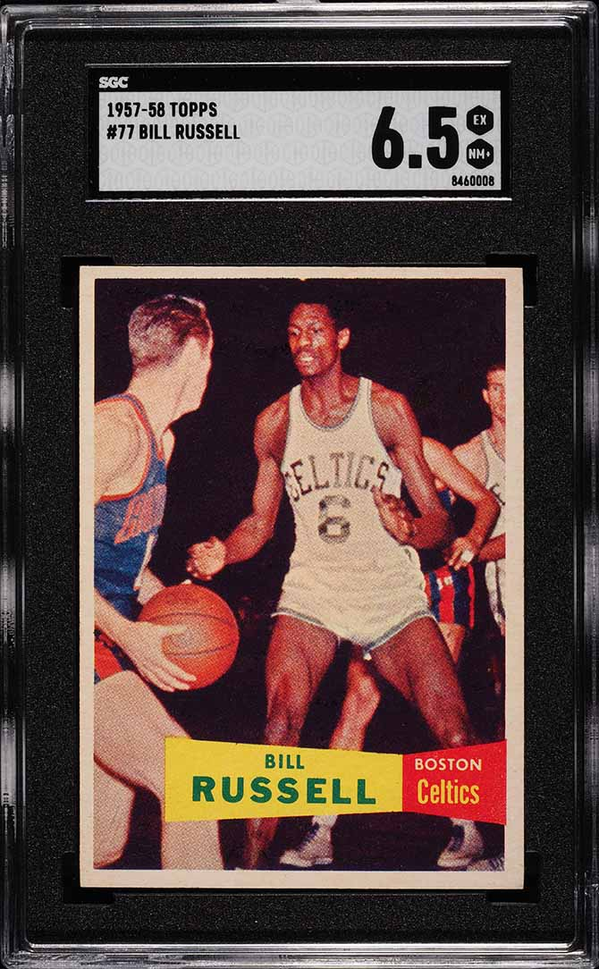 1957 Topps Bill Russell ROOKIE RC #77 SGC 6.5 EX-NM+ - Image 1