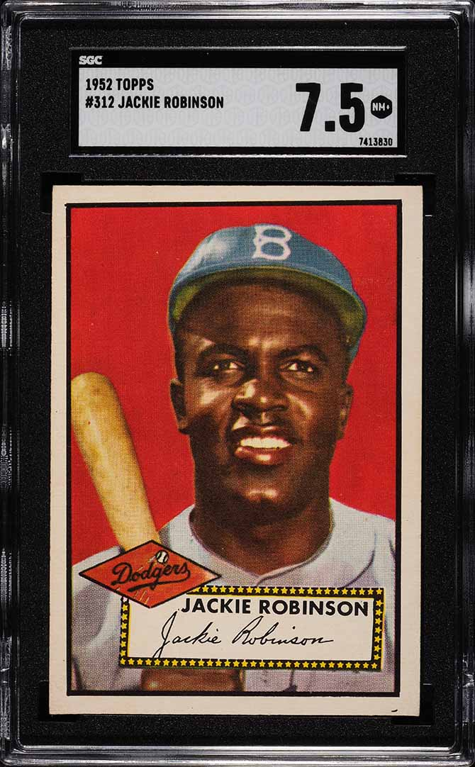 1952 Topps Jackie Robinson #312 SGC 7.5 NM+ - Image 1