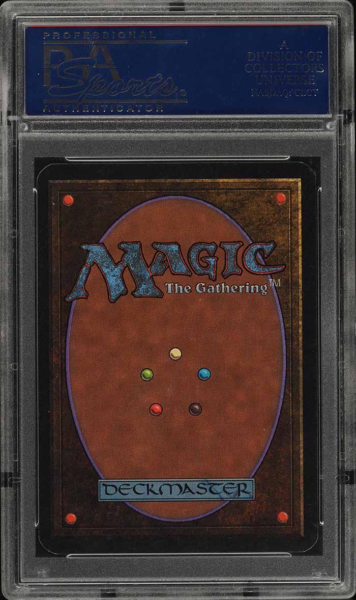 1993 Magic The Gathering MTG Alpha Black Lotus RUSH AUTO PSA 10 - Image 2