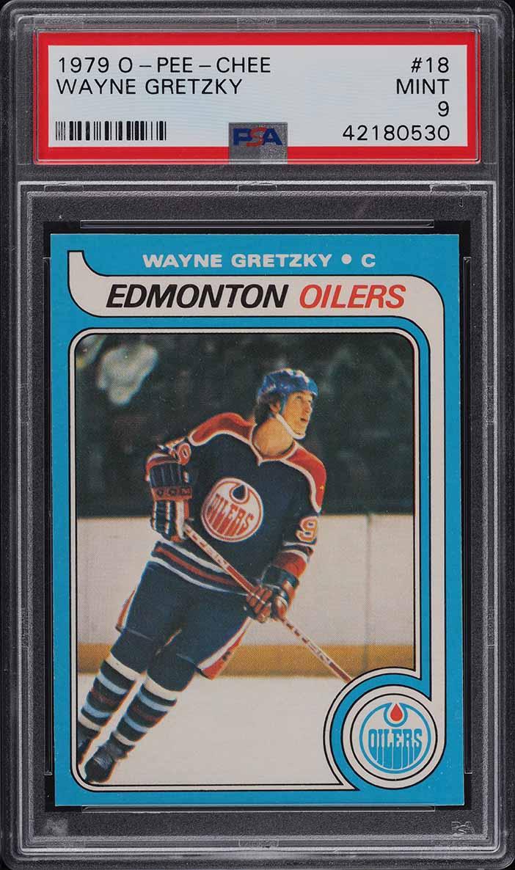 1979 O-Pee-Chee Hockey Wayne Gretzky ROOKIE RC #18 PSA 9 MINT (PWCC-E) - Image 1