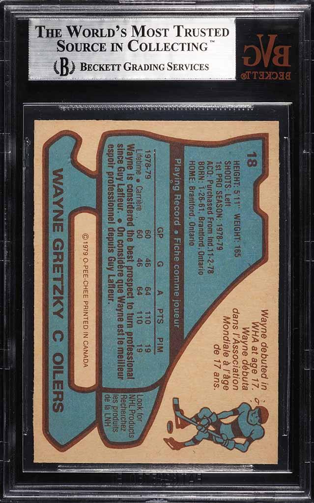 1979 O-Pee-Chee Wayne Gretzky ROOKIE RC #18 BVG 8.5 NM-MT+ - Image 2