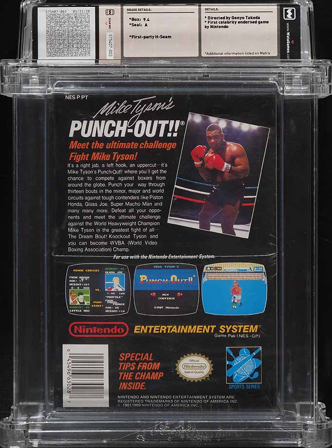 1987 NES NINTENDO Mike Tyson's Punch Out!!, WATA 9.4 - Image 2