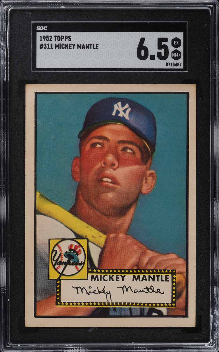1952 Topps Mickey Mantle #311 SGC 6.5 EXMT+ - Image 1