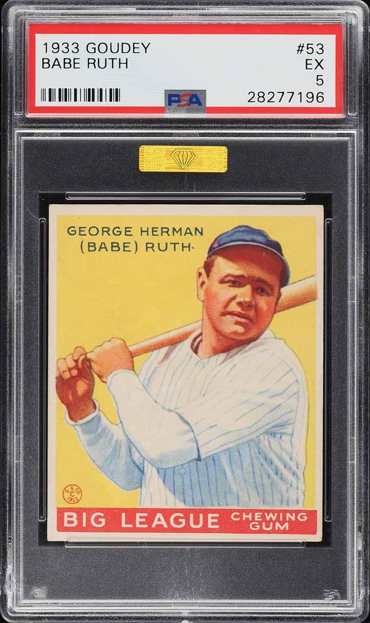 1933 Goudey Babe Ruth #53 PSA 5 EX (PWCC-S) - Image 1