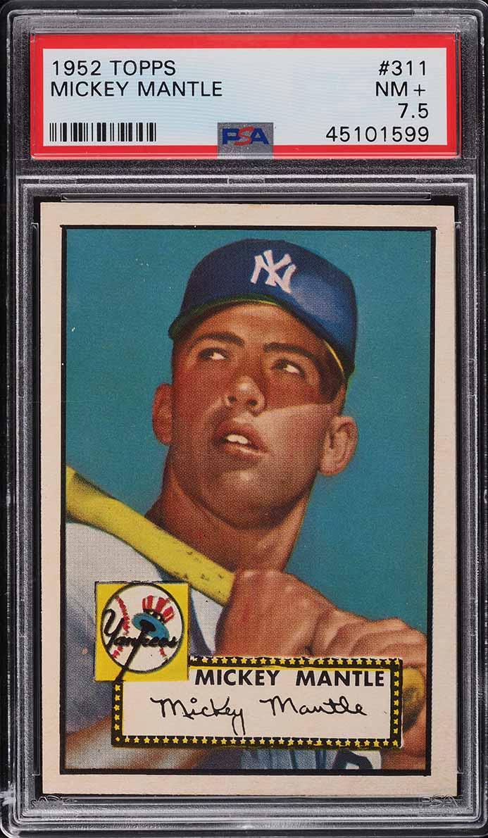 1952 Topps Mickey Mantle #311 PSA 7.5 NRMT+ - Image 1