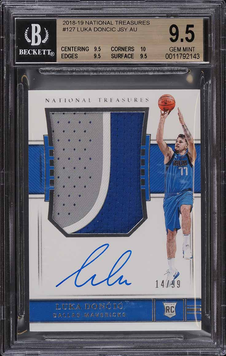 2018 National Treasures Luka Doncic ROOKIE RC PATCH AUTO /99 BGS 9.5 GEM - Image 1