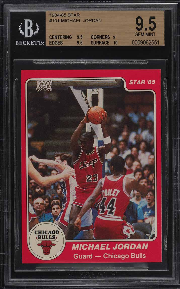 1984 Star Michael Jordan ROOKIE RC #101 BGS 9.5 GEM MINT - Image 1