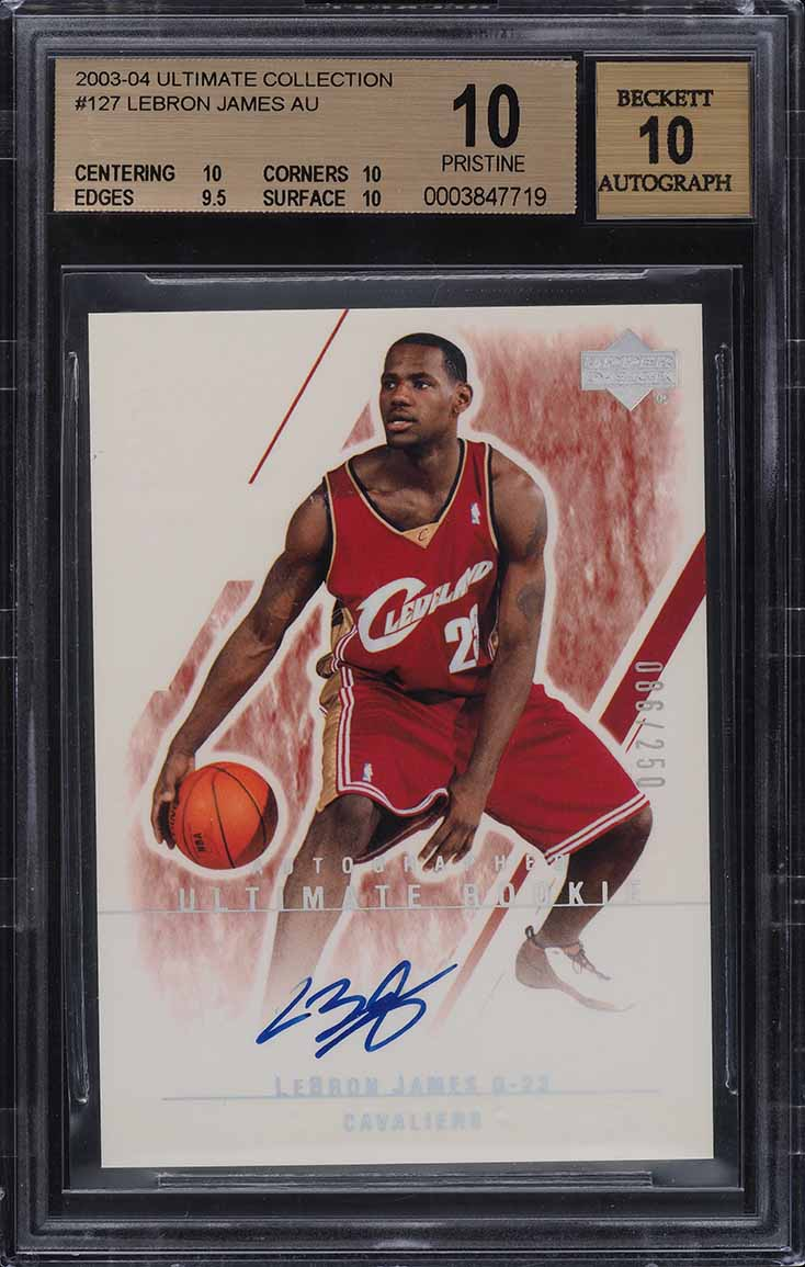 2003 Ultimate Collection LeBron James ROOKIE RC AUTO /250 BGS 10 PRISTINE - Image 1