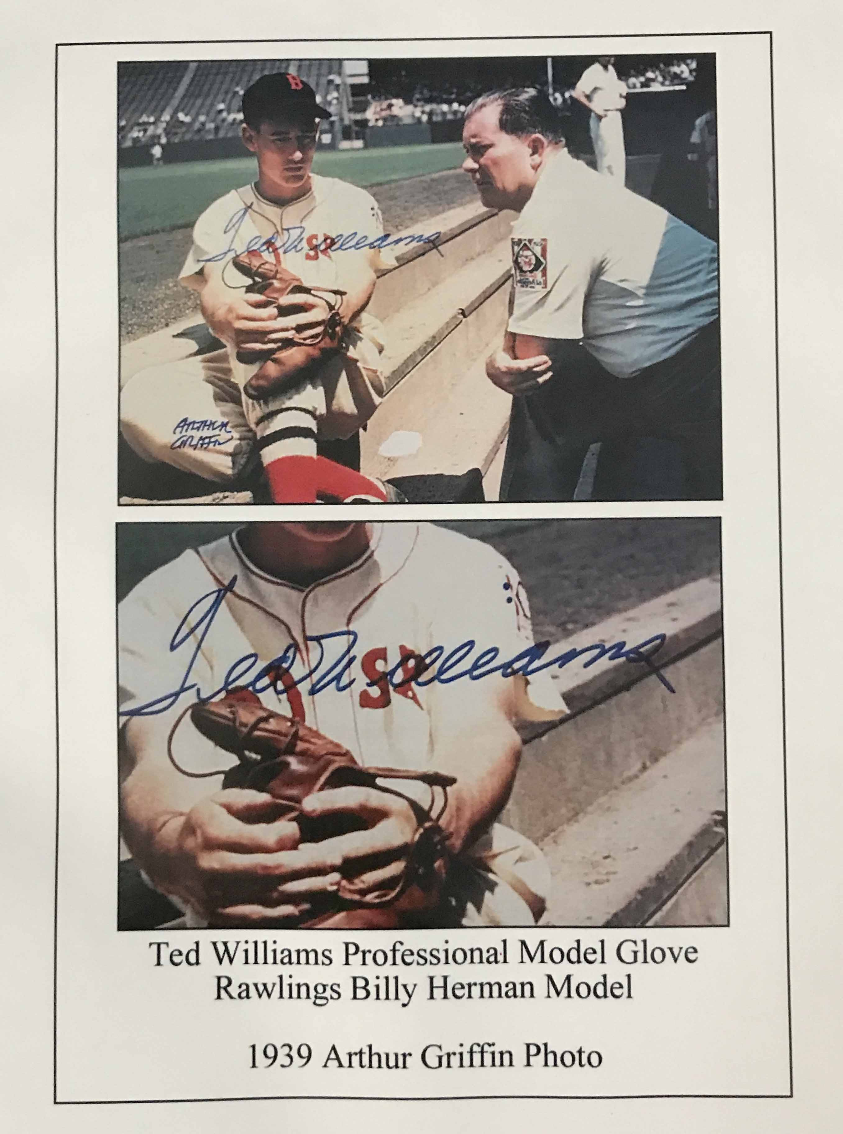 Ted Williams 1938-39 Game Used Rookie Era Glove + Auto PSA/DNA - Image 9