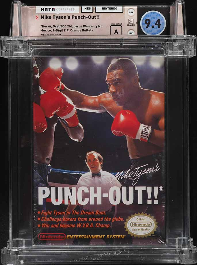 1987 NES NINTENDO Mike Tyson's Punch Out!!, WATA 9.4 - Image 1
