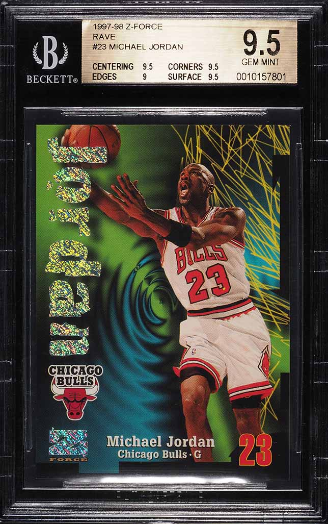 1997 Z-force Rave Michael Jordan /399 #23 BGS 9.5 GEM MINT - Image 1