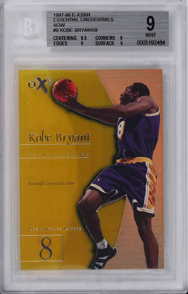 1997 E-X2001 Essential Credentials Now Kobe Bryant /8 #8 BGS 9 MINT - Image 1