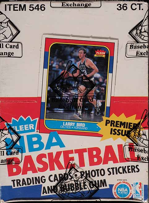 1986 Fleer BBall Wax Box, 36ct Packs, Michael Jordan #57 RC BBCE AUTH LOA - Image 1