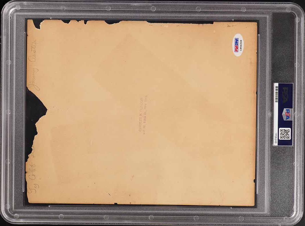 1910 Charles Conlon Ty Cobb Sliding Original Photo, TYPE 1 PSA/DNA - Image 2